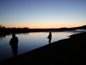 Night fishing at Wulik River